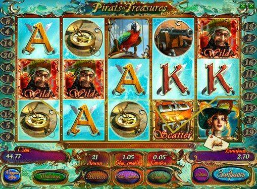 Betalingstabell på Pirates Treasures HD