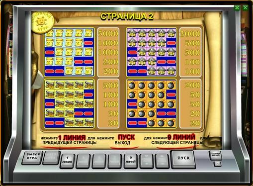 Betalingstabell på spilleautomat Pirate