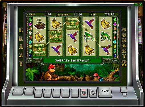 Bonus kombinasjon av spilleautomat Crazy Monkey 2