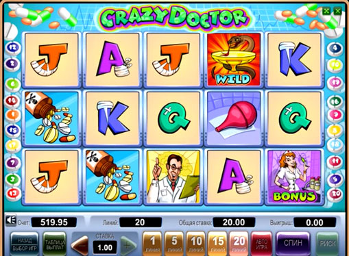 Crazy Doctor spille spilleautomat online for penger