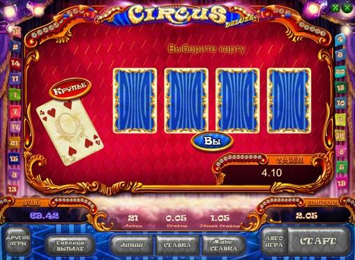 Dobling spill av spilleautomat Circus HD