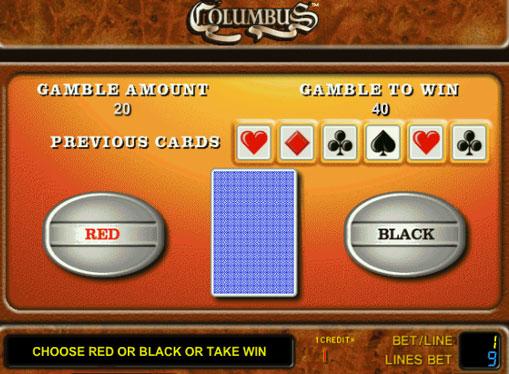 Dobling spill av spilleautomat Columbus