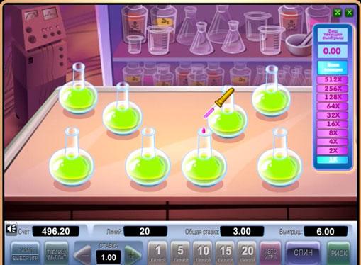Dobling spill av spilleautomat Crazy Doctor