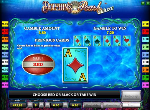 Dobling spill av spilleautomat Dolphins Pearl Deluxe