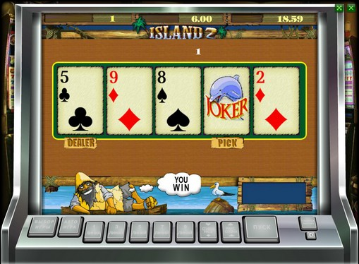 Dobling spill av spilleautomat Island 2