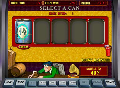 Dobling spill av spilleautomat Lucky Haunter