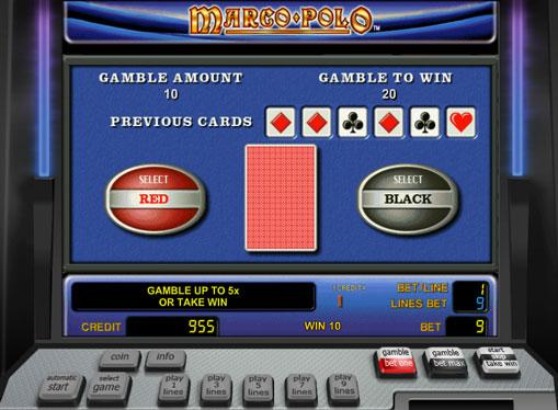 Dobling spill av spilleautomat Marco Polo