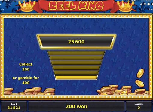 Dobling spill av spilleautomat Reel King