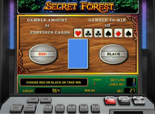 Dobling spill av spilleautomat Secret Forest
