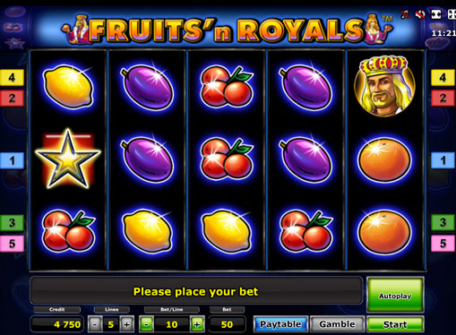 Fruits'n Royals Deluxe spille spilleautomat online