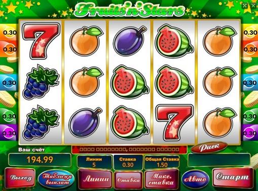Fruits n Stars spille spilleautomat online for penger