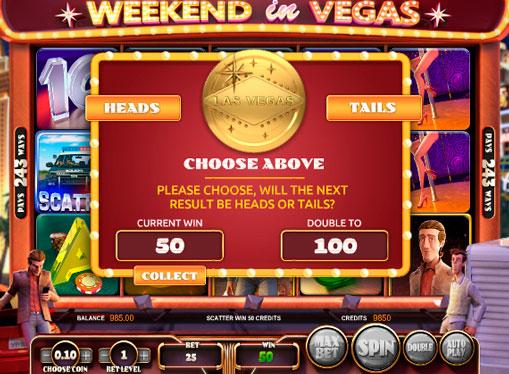 Funksjoner på online spilleautomat Weekend in Vegas
