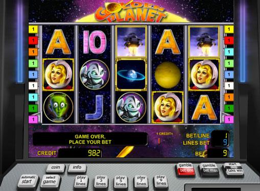 Golden Planet spille spilleautomat online