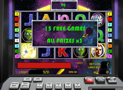Gratis spinn av spilleautomat Golden Planet