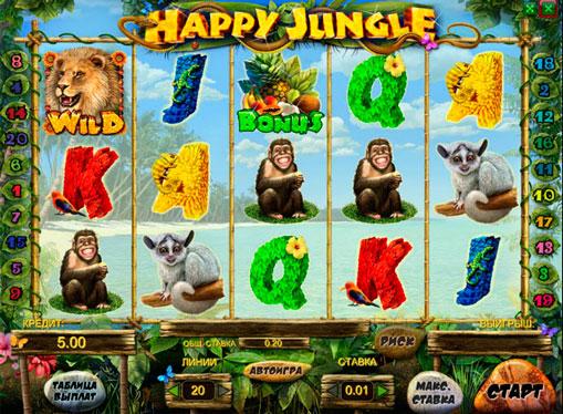 Happy Jungle spille spilleautomat online