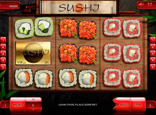 Hjul av spillmaskinen Sushi
