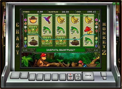Hjulene til spilleautomat Crazy Monkey 2