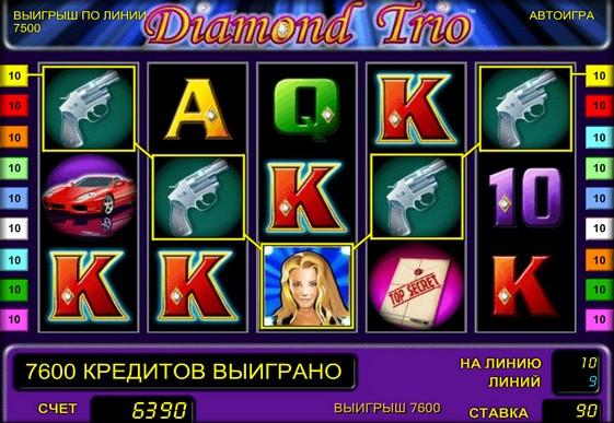 Hjulene til spilleautomat Diamond Trio