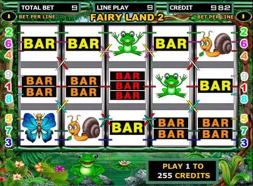Hjulene til spilleautomat Fairy Land