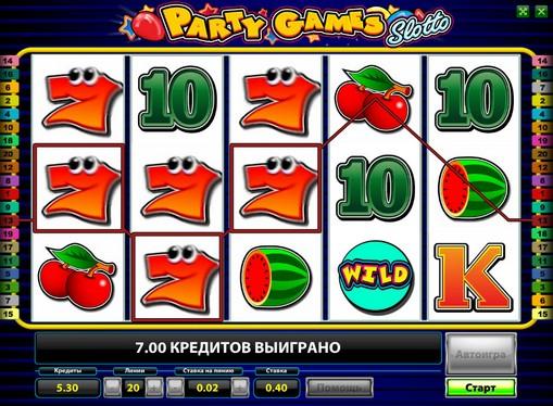 Hjulene til spilleautomat Party Games Slotto