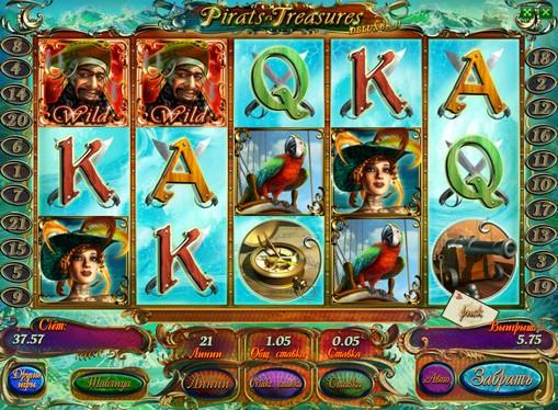 Hjulene til spilleautomat Pirates Treasures HD