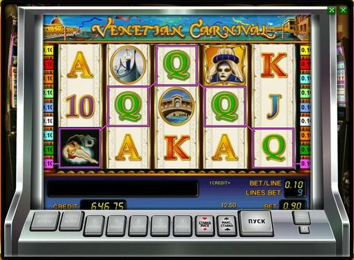 Hjulene til spilleautomat Venetian Carnival