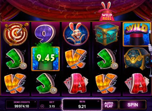 Magisk lue i online spilleautomater Rabbit in the Hat