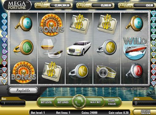 Mega Fortune Sie den Spielautomat online