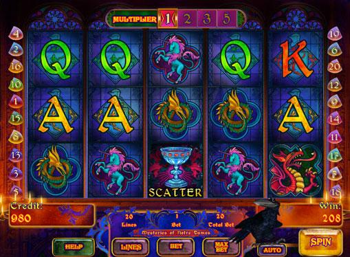 Mysteries of Notre Dames spille spilleautomat online for penger