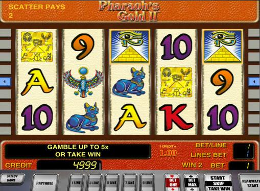Pharaoh's Gold II spille spilleautomat online