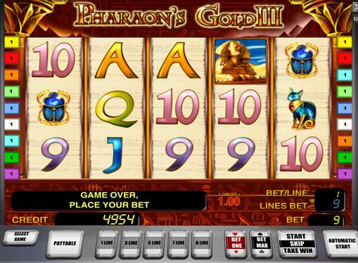 Pharaoh's Gold III spille spilleautomat online