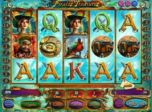 Pirates Treasures spille spilleautomat online for penger