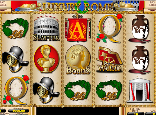 Ruller av spilleautomat Luxury Rome