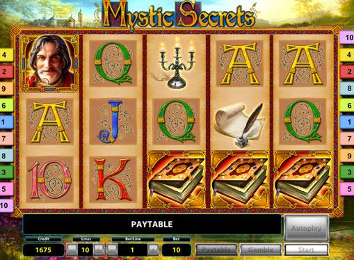 Ruller av spor spilleautomat Mystic Secrets Deluxe