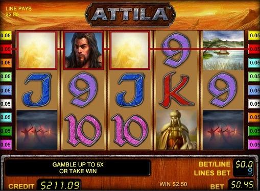 Spill spilleautomat Attila