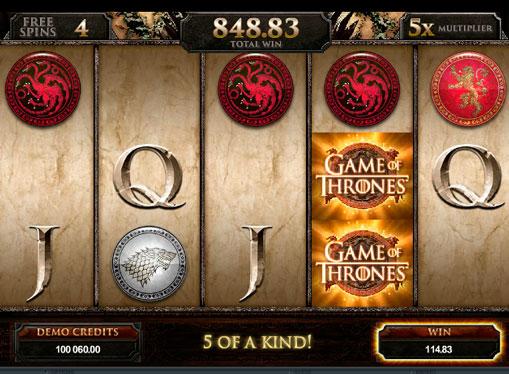 Spilleautomat Game of Thrones for ekte penger