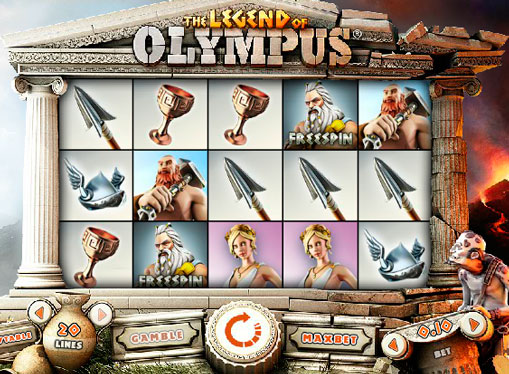 Spilleautomat of Olympus online for penger
