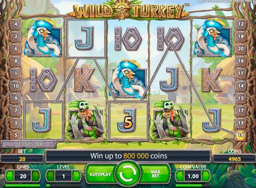 Spilleautomat Wild Turkey for ekte penger
