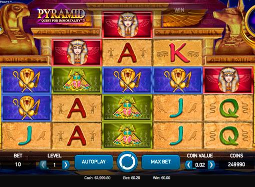 Spilleautomater for ekte penger - Pyramid