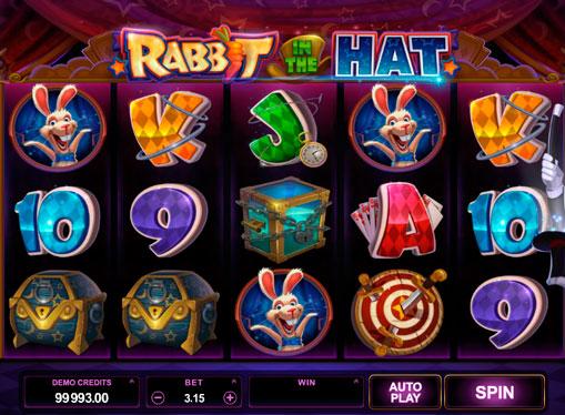 Spilleautomater for ekte penger - Rabbit in the Hat
