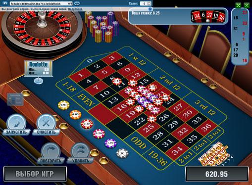 Spillene ble laget i spilleautomat European Roulette