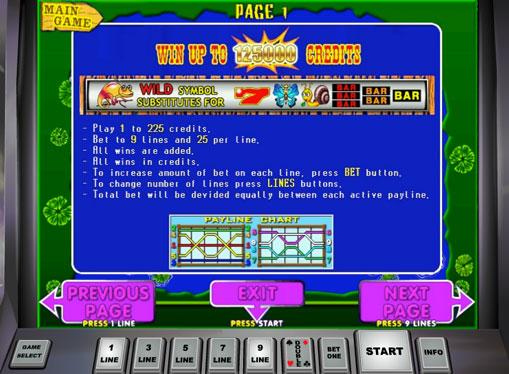 Symboler på en spilleautomat Fairy Land 2