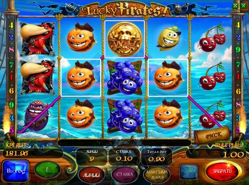 Symboler på en spilleautomat Lucky Pirates