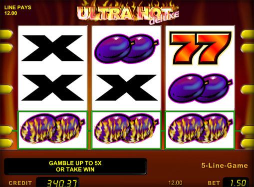 Symboler på en spilleautomat Ultra Hot Deluxe