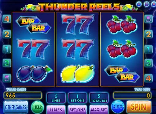 Thunder Reels spille spilleautomat online for penger