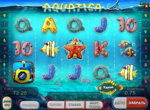 Utseendet til spilleautomat Aquatica