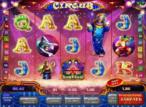 Utseendet til spilleautomat Circus HD