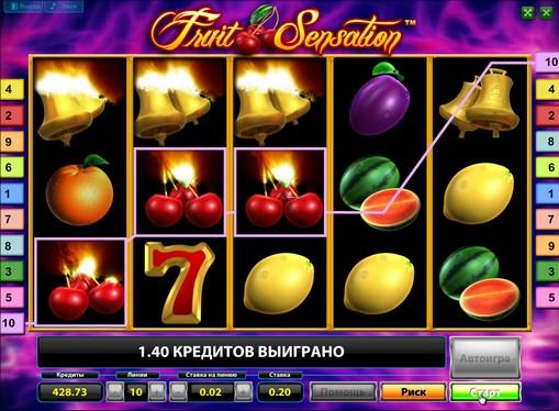 Utseendet til spilleautomat Fruit Sensation Deluxe
