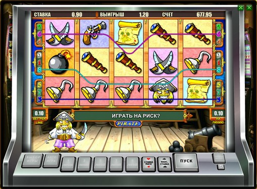 Utseendet til spilleautomat Pirate